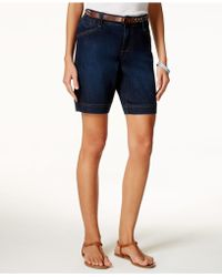 Lee Platinum - Classic-fit Belted Bella Wash Shorts - Lyst