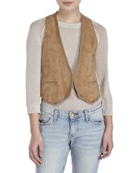 Maje | Suede Vest | Lyst