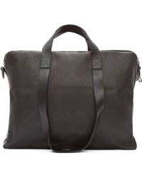 Marsèll - Black Leather Doubled Briefcase - Lyst