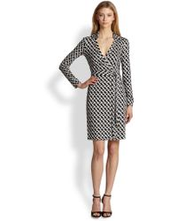 Diane von Furstenberg New Jeanne Silk Jersey Printed Wrap Dress - Lyst