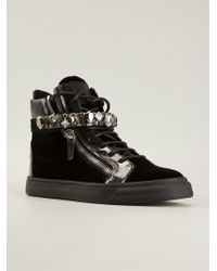 Giuseppe Zanotti Black Hi-top Sneakers - Lyst