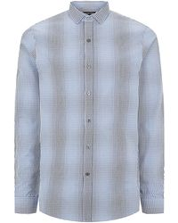 Michael Kors Two-tone Gingham Oxford Shirt - Lyst