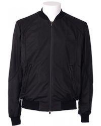 DROMe Perforated Leather Black Jacket - Lyst