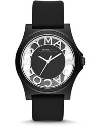 Marc By Marc Jacobs Henry Skeleton Watch with Silicone Strap Black - Lyst