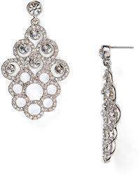 Carolee Openwork Flower Drop Earrings - Lyst
