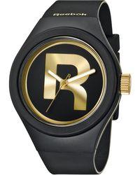 Reebok - Men'S Icon Drop Rad Black Silicone Strap Watch 44Mm Rc-Idr-G2-Pbib-B2 - Lyst
