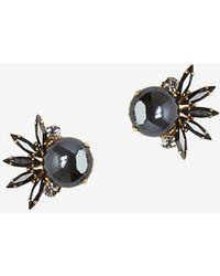 Tataborello - Crystal Glass Stud Earrings - Lyst