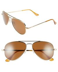 Randolph Engineering - 'concorde' 57mm Metal Aviator Sunglasses - Lyst