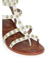 Sam Edelman | 'eavan' Stud Leather Gladiator Sandals | Lyst