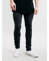 Topman Washed Black Stretch Skinny Jeans - Lyst