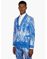 Kenzo Mens Blue Sketch Print Reversible Deconstructed Jacket - Lyst