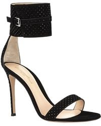 Gianvito Rossi Rhodes Studded Suede Sandals - Lyst