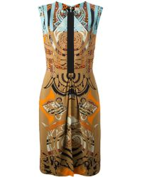 Etro Fitted Mix Print Dress - Lyst