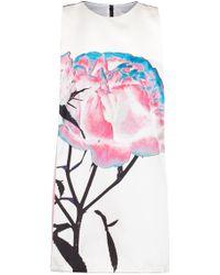 Prabal Gurung Floral Printed Sleeveless Satin Dress - Lyst