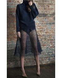 Katie Ermilio   Oversized Fashion Seamed Turtleneck   Lyst