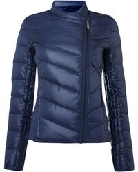 Calvin Klein Obika Coat with Side Front Zip in Nightsky - Lyst
