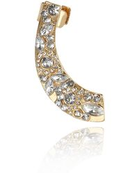 River Island Gold Tone Encrusted Ear Cuff - Lyst