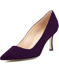 Manolo Blahnik Bb Suede 70mm Pump - Lyst