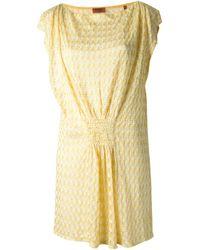 Missoni Ruched Dress - Lyst