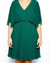 Asos Curve Exclusive Dress With Angel Sleeve - Lyst