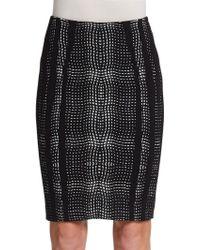 Diane von Furstenberg Marta Paneled Pencil Skirt - Lyst