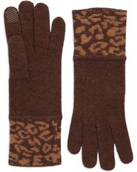 Portolano Brown Patterned Gloves - Lyst