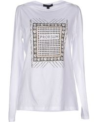 Burberry Prorsum T-Shirt white - Lyst