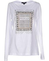Burberry Prorsum T-Shirt white - Lyst