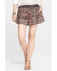 Free People 'Noyal Heart It' Print Skort - Lyst