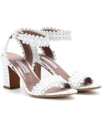 Tabitha Simmons Leticia Scalloped Ankle-Wrap Sandal - Lyst