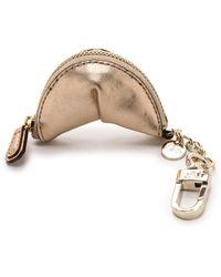 Diane Von Furstenberg Fortune Cookie Leather Charm  Gold - Lyst
