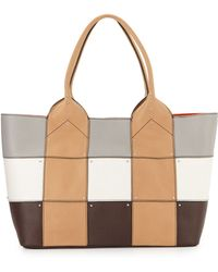 orYANY Summer Colorblock Patch Tote Bag brown - Lyst