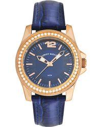Tommy Bahama - Women'S Swiss Blue Leather Strap Watch 35Mm Tb2129 - Lyst