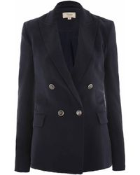 Temperley London Oscar Double Breasted Jacket blue - Lyst