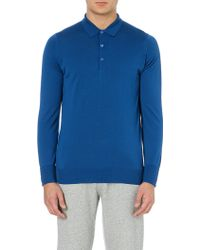 John Smedley Merino Wool Polo Shirt - For Men - Lyst