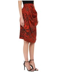 Vivienne Westwood Anglomania Survival Skirt red - Lyst
