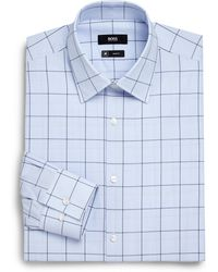 Boss by Hugo Boss Slim-Fit Windowpane Dress Shirt - Lyst