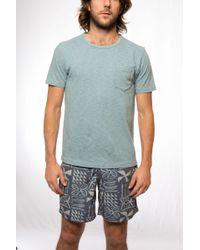 Faherty Brand Slub Jersey Indigo Pocket T - Lyst