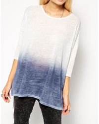 Asos Tunic Top In Textured Fabric With Spray Wash - Lyst