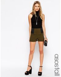 Asos Tall Shorts With Elastic Side - Lyst