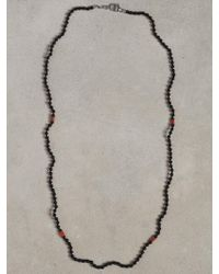 John Varvatos Onyx and Turquoise Beaded Necklace - Lyst