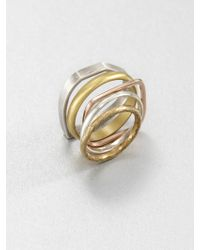 Bing Bang - Tritone Stack Ring Set - Lyst