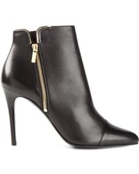 Lanvin Heeled Zip Ankle Boots - Lyst