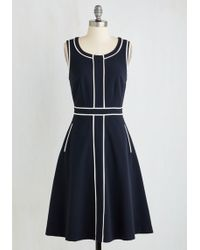 ModCloth | Roving Reporter Dress In Navy | Lyst