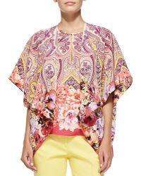 Etro Flutter-sleeve Paisley  Floral Jacket - Lyst