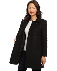 DKNY Double Breasted Boucle Coat Y4 - Lyst