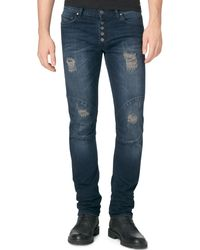 Calvin Klein Jeans Slim-fit Rnr Blue Jeans - Lyst