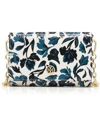 Tory Burch Robinson Floral Chain Wallet - Lyst