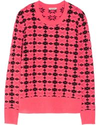 Emma Cook - Neon Patterned Knitted Jumper - Lyst