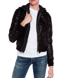 R13 Hooded Flight Jacket - Lyst
